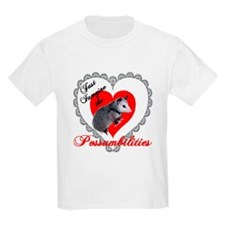 Possum Valentines Day Heart Kids T-Shirt
