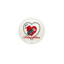 Possum Valentines Day Heart Mini Button (10 pack)