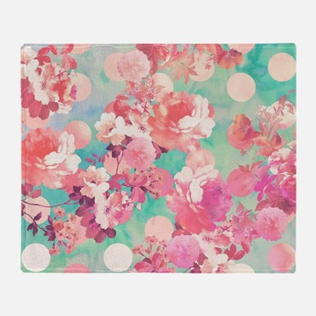 Romantic Pink Retro Floral Pattern
