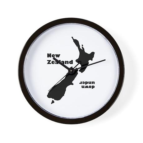 """NZ Down Under"" Wall Clock"