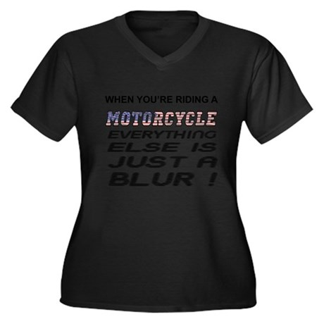 Everything Else is a Blur Motorcycle Plus Size T-S