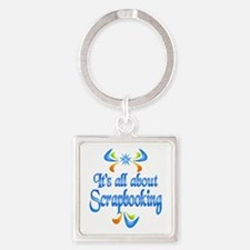 About Scrapbooking Square Keychain