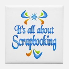 About Scrapbooking Tile Coaster
