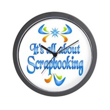 About Scrapbooking Wall Clock