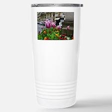 Traveling Flowers Stainless Steel Travel Mug