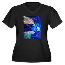 Avatar Women's Plus Size V-Neck Dark T-Shirt