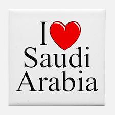 """""""I Love Saudi Arabia"""" Tile Coaster"""