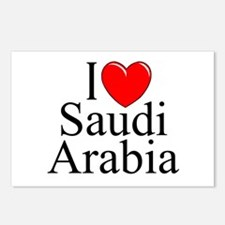 """I Love Saudi Arabia"" Postcards (Package of 8)"