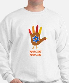 Personalize Thanksgivukkah Sweatshirt