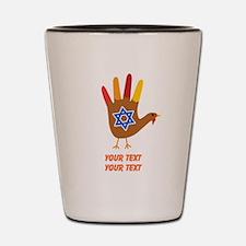 Personalize Thanksgivukkah Shot Glass