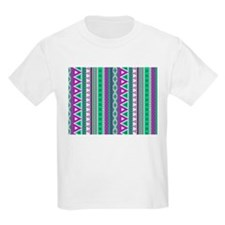 mixed border purple green T-Shirt