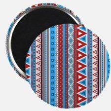 mixed border blue red Magnets