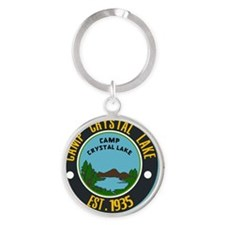 Camp crystal lake Round Keychain