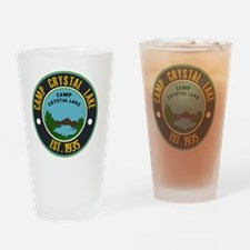 Camp crystal lake Drinking Glass
