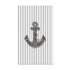 modern anchor nautical navy s Rectangle Car Magnet
