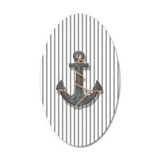 modern anchor nautical navy  Wall Decal