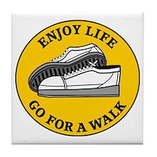 walk1 Tile Coaster