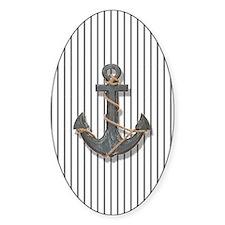 modern anchor nautical navy stripes Decal
