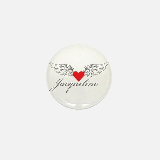 Angel Wings Jacqueline Mini Button
