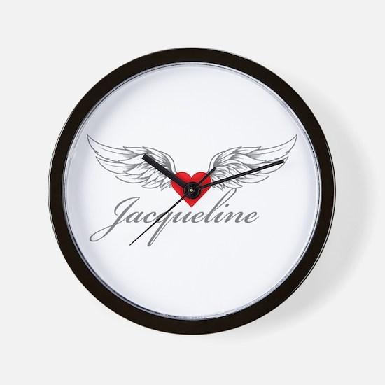 Angel Wings Jacqueline Wall Clock