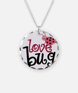 lovebug Necklace Circle Charm