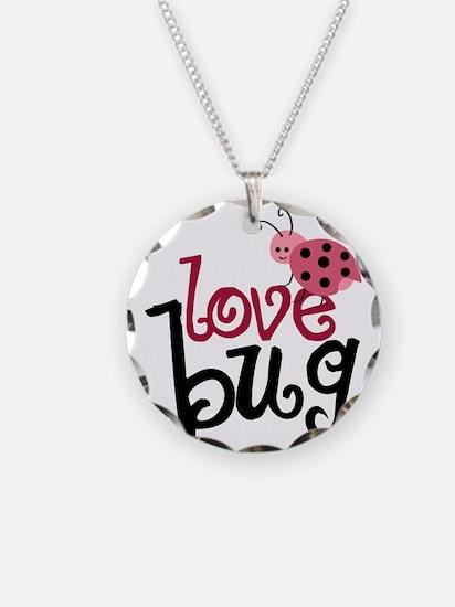 lovebug Necklace Circle Charm