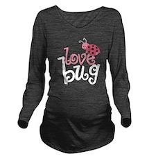 lovebug_dark Long Sleeve Maternity T-Shirt