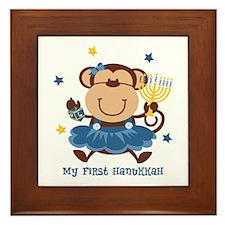 Monkey Girl 1st Hanukkah Framed Tile