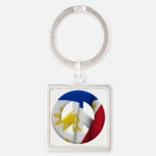 Philippines Square Keychain