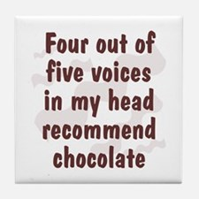 Chocolate Voices Tile Coaster