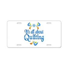 About Quilting Aluminum License Plate