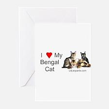 Cute Bengal cat Greeting Cards (Pk of 10)