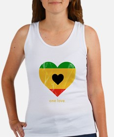 One Love Rasta Heart Tank Top