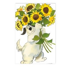 Waldo With Sunflowers Postcards (Package of 8)