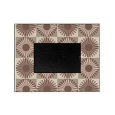 Autumn brown mod retro style pattern Picture Frame