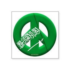 "Saudi Arabia Square Sticker 3"" x 3"""