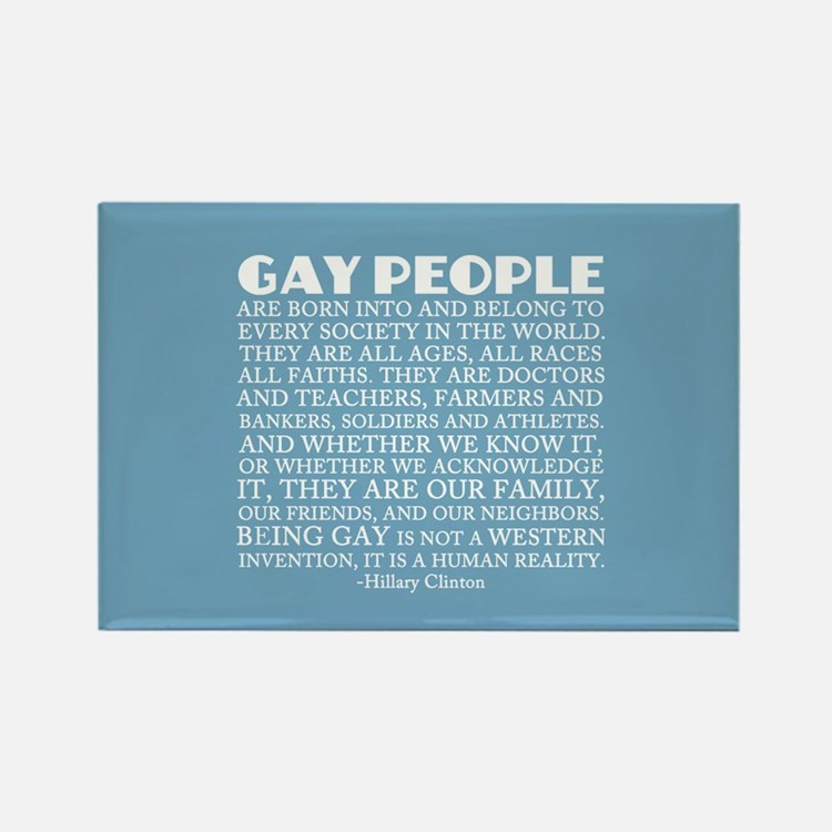 Gay People Clinton Quote Rectangle Magnet
