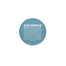 Gay People Clinton Quote Mini Button (10 pack)