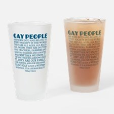 Gay People Clinton Quote Drinking Glass
