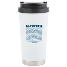 Gay People Clinton Quote Travel Mug