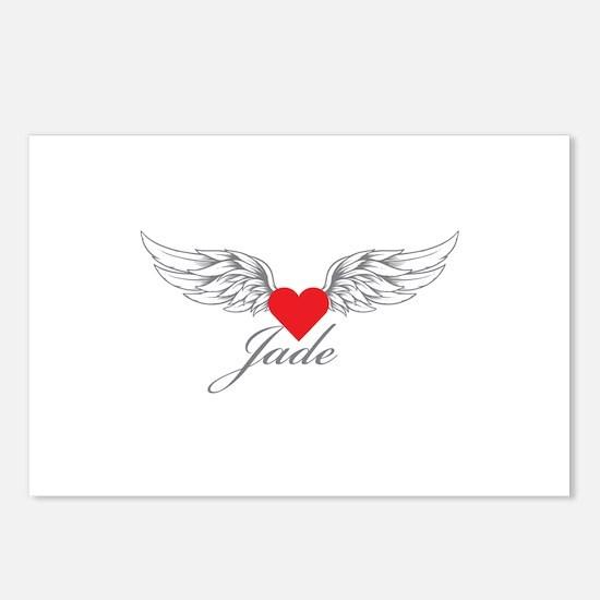 Angel Wings Jade Postcards (Package of 8)