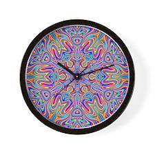 Digital Mandala 4 Wall Clock