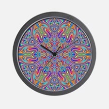 Digital Mandala 4 Wall Clock
