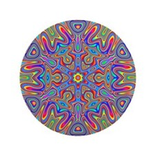 "Digital Mandala 4 3.5"" Button"