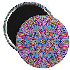 Digital Mandala 4 Magnets