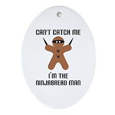 Ninjabread Man Ornament (Oval)