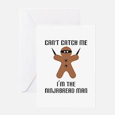Ninjabread Man Greeting Card
