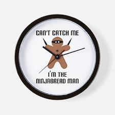 Ninjabread Man Wall Clock
