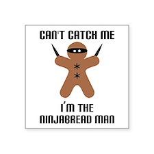 """Ninjabread Man Square Sticker 3"""" x 3"""""""