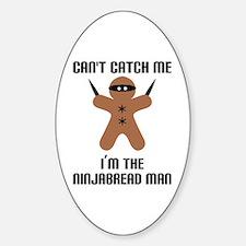 Ninjabread Man Sticker (Oval)